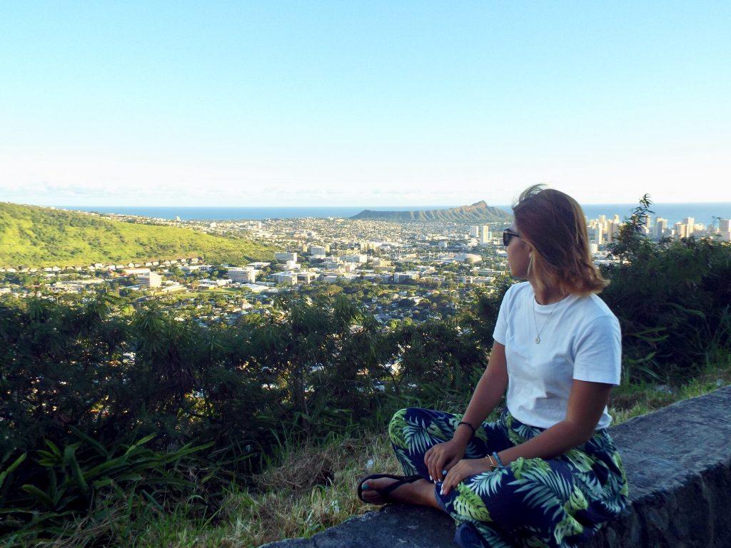 タンタラスの丘 サンセット 夕日 ワイキキ ハワイ