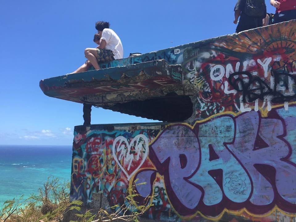 ピルボックス頂上 ハイキングコースラニカイピルボックス ハイキング